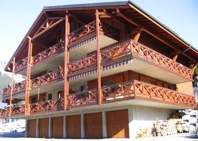 Immeuble béton bois